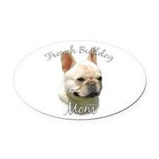 FrenchBulldogMom.png Oval Car Magnet