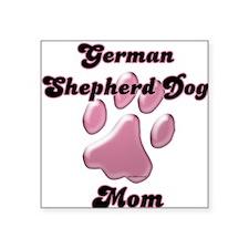 "GermanShepherdMomblkpnk.png Square Sticker 3"" x 3"""