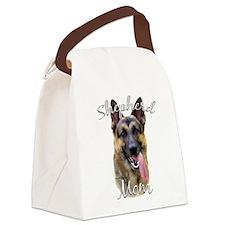 GermanShep Mom.png Canvas Lunch Bag