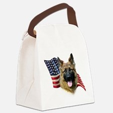 GermanShepFlag.png Canvas Lunch Bag