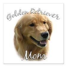"Golden Mom 2 Square Car Magnet 3"" x 3"""