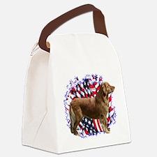 GoldenRetrieverPatriot.png Canvas Lunch Bag