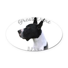 GreatDanemantleMom.png Oval Car Magnet