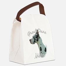 GreatDaneharlequinMom.png Canvas Lunch Bag