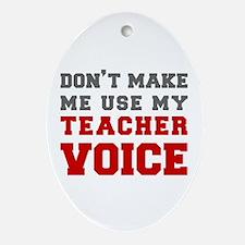 teachers-voice-fresh-gray Ornament (Oval)