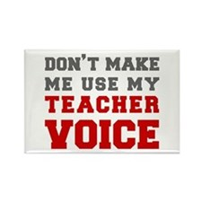 teachers-voice-fresh-gray Rectangle Magnet