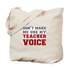 teachers-voice-fresh-gray Tote Bag