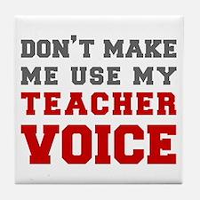 teachers-voice-fresh-gray Tile Coaster