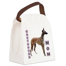 GreyhoundMom.png Canvas Lunch Bag
