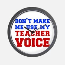 teachers-voice-fresh Wall Clock