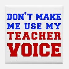 teachers-voice-fresh Tile Coaster