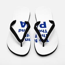 papa-akz-blue Flip Flops