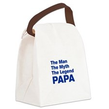 papa-akz-blue Canvas Lunch Bag