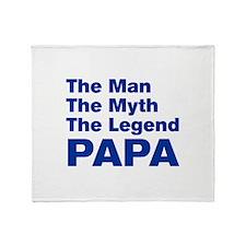papa-akz-blue Throw Blanket