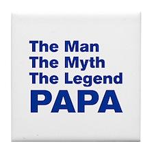 papa-akz-blue Tile Coaster