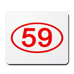 Number 59 Oval Mousepad