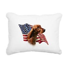 IrishSetterFlag.png Rectangular Canvas Pillow