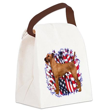 IrishTerrierPatriot.png Canvas Lunch Bag