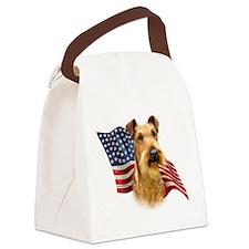 IrishTerrierFlag.png Canvas Lunch Bag