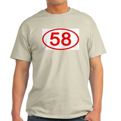 Number 58 Oval Ash Grey T-Shirt