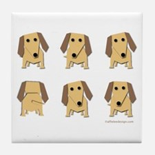 One of These Dachshunds! Tile Coaster