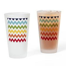 Classy rainbow chevron stripes Drinking Glass