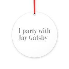 jay-gatsby-bod-gray Ornament (Round)