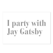 jay-gatsby-bod-gray Postcards (Package of 8)