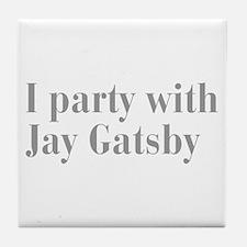 jay-gatsby-bod-gray Tile Coaster