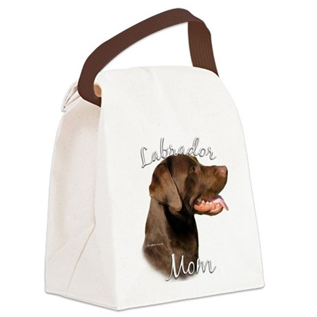 LabradorchocolateMom.png Canvas Lunch Bag