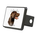 Chocolate lab mom Hitch Covers