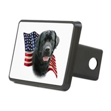 Black Lab Flag Hitch Cover