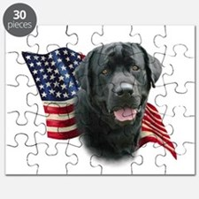 Black Lab Flag Puzzle