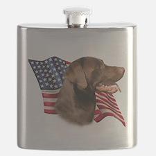 LabradorChocolateFlag.png Flask