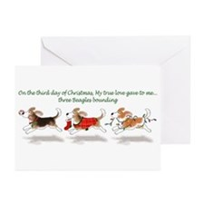 Holiday Beagle Greeting Cards (Pk of 10)