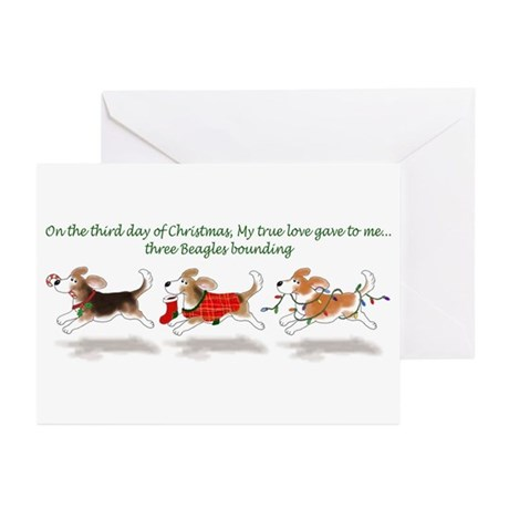 Holiday Beagle Greeting Cards (Pk of 10)