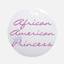 Crown African American Ornament (Round)