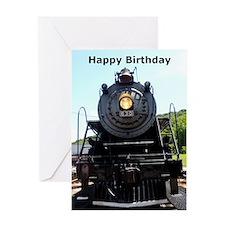 Locomotive Birthday Greeting Card