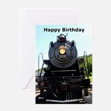 Locomotive Birthday Greeting Card