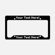 CUSTOM TEXT Black License Plate Holder