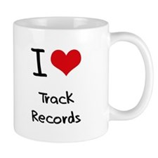 I love Track Records Small Mugs