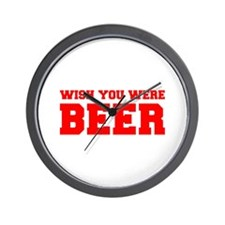 wish-you-were-beer-fresh-red Wall Clock