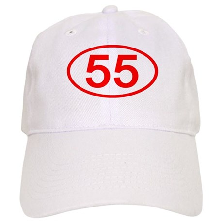 Number 55 Oval Cap