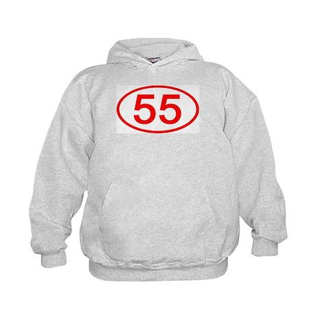 Number 55 Oval Kids Hoodie