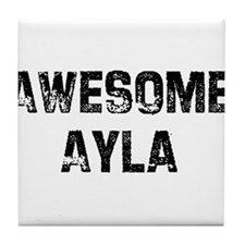 Awesome Ayla Tile Coaster