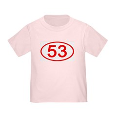 Number 53 Oval T