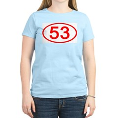Number 53 Oval Women's Pink T-Shirt