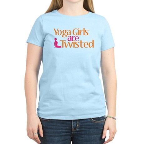 Yoga Girls Are Twisted Women's Light T-Shirt