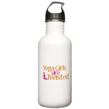 Yoga Girls Are Twisted Sports Water Bottle
