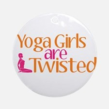 Yoga Girls Are Twisted Ornament (Round)
